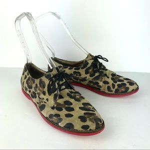 STEVE MADDEN Jazie leather animal print oxford, 8